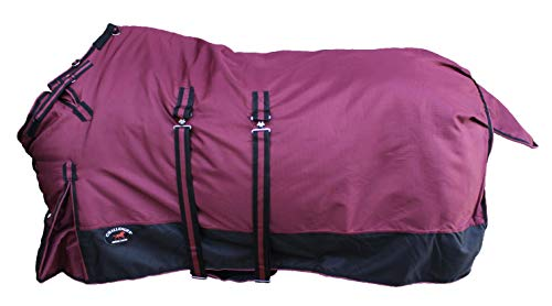 CHALLENGER 62' 1200D Turnout Waterproof Horse Winter Blanket Heavy Belly Band 567B