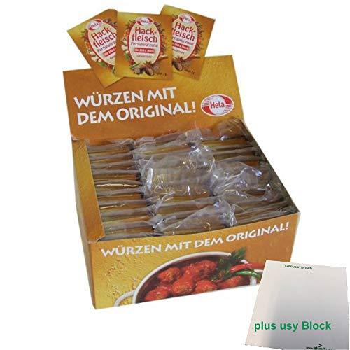 Hela Hackfleisch Fertigwürzung (1 Box, 150 Beutel a 7g) plus usy Block