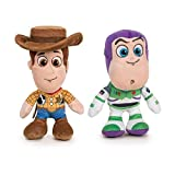 "Toy Story - Pack 2 Peluches 7'78""/20cm Sheriff Woody, el Vaquero + Buzz Lightyear Calidad Super Soft..."