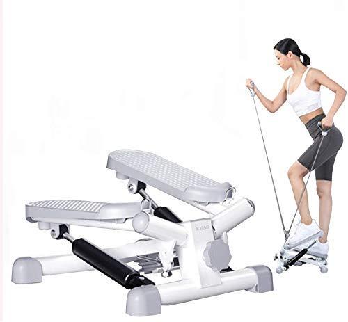 ZHANGKANG Fitness Treppen for Männer und Frauen, Minileiter Fitness Ausdauertraining, Höhenverstellbarkeit Drehmaschine, Leiter Fitnessausrüstung, mit Draw-Seil