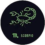 Butty Reloj de Pared sin tictac 9.8 'Inch Scorpio Digital Round Clock
