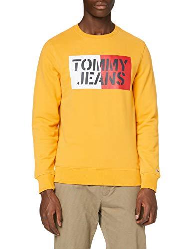 Tommy Jeans Essential Swt Sudadera con Cuello Redondo, Amarillo (Yellow Zbc), XXL para Hombre