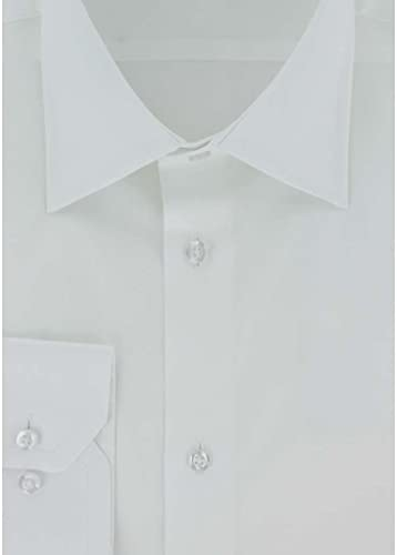 Cotton Park - Chemise Classique Satin de Coton Blanc - Homme