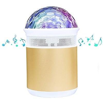 Disco Light with Bluetooth Speaker, Mini LED Party Light Disco Strobe Light Mirror Ball Light for Kids Children Gift Home Birthday Party Stage Wedding Celebration KTV Bar BBQ