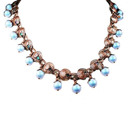 Konplott Water Blossom Halskette Collier Blue/Green 2208