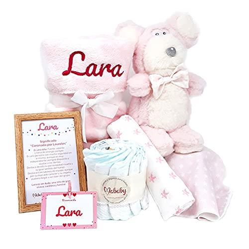 My Mouse de Mababy - Canastilla Recién Nacido Personalizada - Cesta de Regalo para Bebé - Cesta Regalo Recién nacido - Regalo Babyshower - Cesta Bebé Personalizada (Rosa)