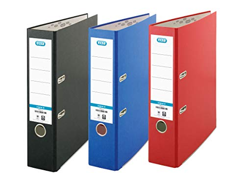 Elba A4 Lever Arch File, Red/Bla...