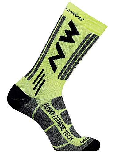 Northwave Husky Ceramic 2 Winter Fahrrad Socken gelb/schwarz 2020: Größe: M (40-43)