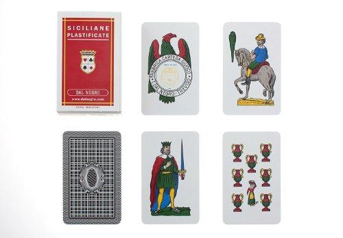 Dal Negro 15010 Italienische Regionalkarten Sizilien, Kunststoff, Mehrfarbig