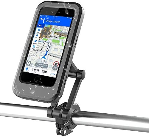 Waterproof Bike Phone Mount Bicycle Motorcycle Cell Phone Holder Cradles Adjustable Phone Handlebar product image
