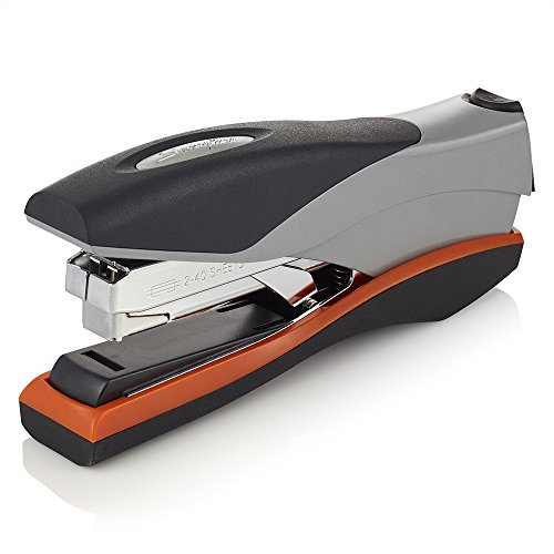 Swingline Stapler, Optima 40, 40 Sheet Capacity, Low Force, Full Strip, Silver/Orange/Black/ (87840)