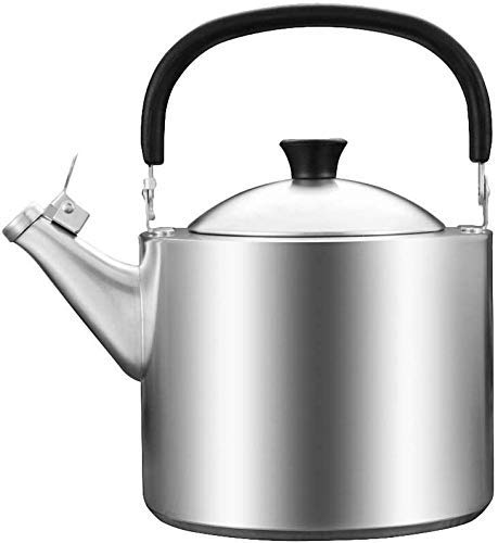 COOLSHOPY Peroles de Acero Inoxidable de 3,5 litros Grueso Compuesto Inferior del hogar Botella Cocina de Gas Gas Agua Caliente