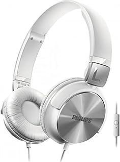Philips SHL3165WT/00 Fone de Ouvido Estilo Dj com Graves Nitidos e Microfone Integrado, Branco