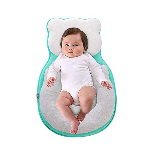 Crib Baby Sleeping Pillow,Baby Lagerungskissen,kissen gegen plattkopf baby,Baby Stereotypes Kissen,Babyschlafhilfe Tragbare Babyschlafsack Babyliege Kinderbett Stubenwagen Matratze Babykissen