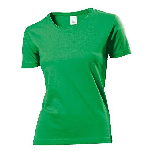 T-shirt classique pour femmes, taille S, M, L, XL Medium vert kelly