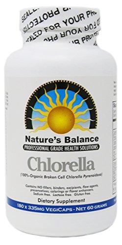 100% Pure Premium Grade Chlorella Pyrenoidosa by Natures Balance - 180 Capsules