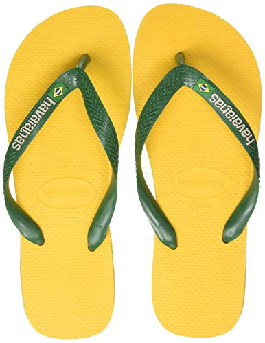 Havaianas Brasil Logo 4110850, Infradito Unisex Adulto, Giallo (Banana Yellow), 43/44 EU