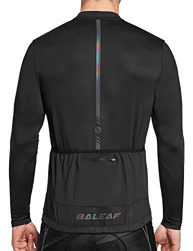 BALEAF Men's Cycling Jersey Long Sleeve Bike Shirts with 4 Rear Pockets...