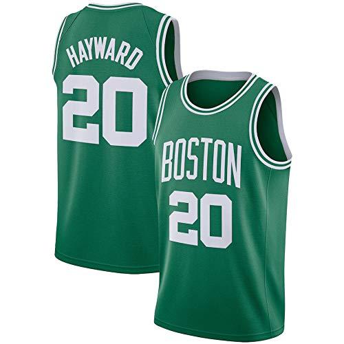 WSUN Camisetas De Baloncesto De La NBA para Hombre - Gordon Hayward NBA Jersey 20# Boston Celtics - Camiseta Deportiva De Baloncesto Sin Mangas Transpirable De Ocio,A,S(165~170CM/50~65KG)