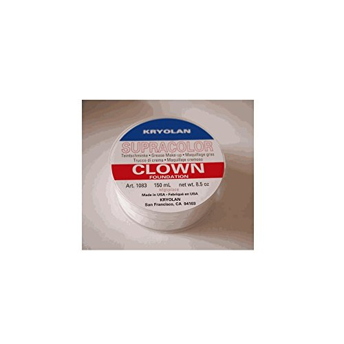 Kryolan SUPRACOLOR BIANCO CLOWN 150 ML make up bodypainting