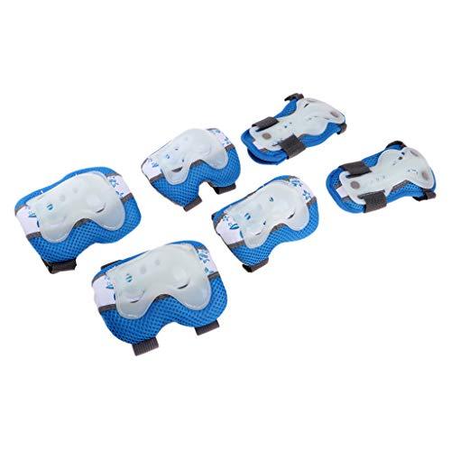 MagiDeal Robuste Knie Ellbogenschützer Handgelenkschutz Schutzausrüstung Für Snowboard - Blau, M