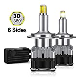 H7 LED Headlight Bulbs 6 Sides 360 Degree Newest Upgraded CSP Chips Car High Low Beam Headlamp Conversion Kit 12000LM...