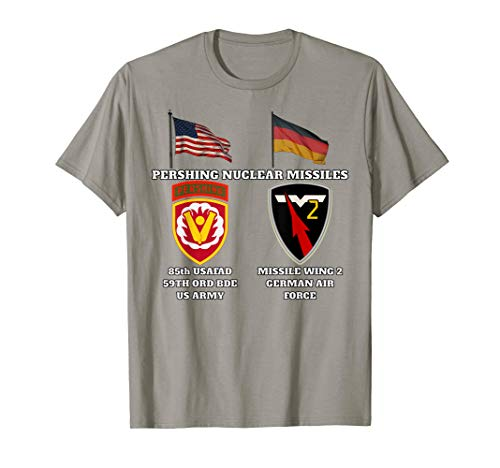 85th USAFAD SSI w Pershing and Missile Wing 2 Nuc v print T-Shirt