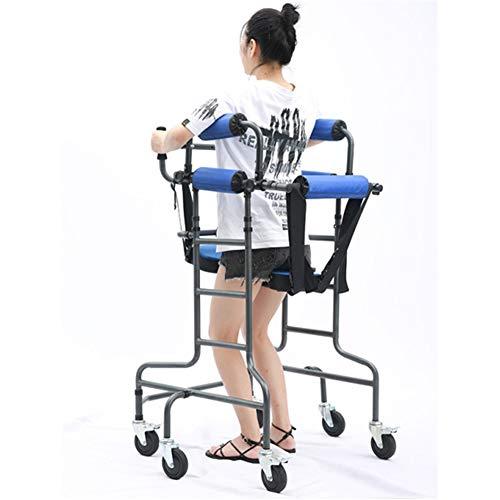 TXDWYF Deambulatore per Anziani E Disabili Smontabile con Appoggio Antibrachiale Regolabile in Altezza, Girello per Anziani con Seduta, Deambulatore Ascellare con Freni, Carico 100 kg