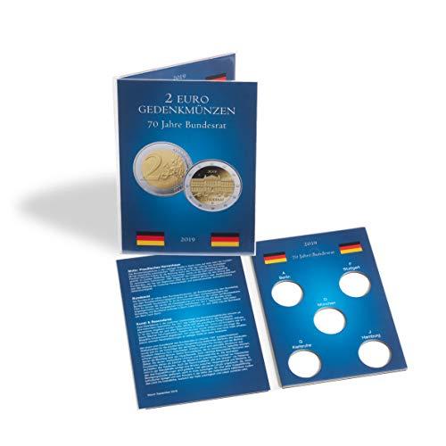 Leuchtturm Münzkarte für 5 dt. 2-Euro-Gedenkmünzen Bundesrat (Jg. 2019)
