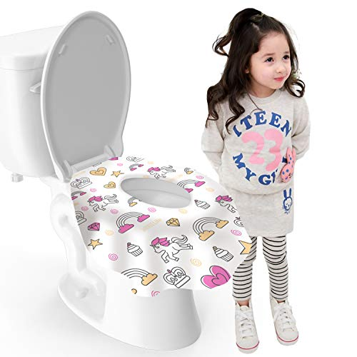MGH Life XL Large Disposable Travel Toilet Seat Covers - Waterproof, Individually Wrapped Portable Potty Cover That Completely Covers Any...