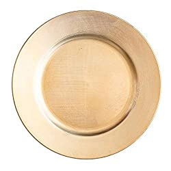 Gold charger plates for table setting