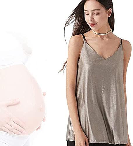 SKLEE Vestidos de Maternidad Anti-radiación, protección contra Embarazadas Ropa de Escudo Lavable Regulable Transpirable Fibra de Plata Embarazada Mamá Ropa,XXL