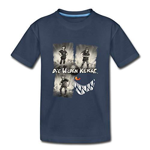 Die Wilden Kerle Quartett Vintage Kinder Premium T-Shirt, 122-128, Navy