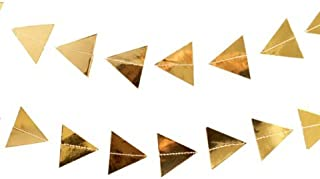 Harlow & Grey - Gold Triangles Garland Geometric Banner - Perfect for Bridal Shower, Birthday, Weddings and More!
