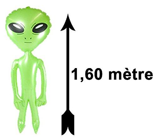Mondial-fete - Alien vert gonflable 1m60