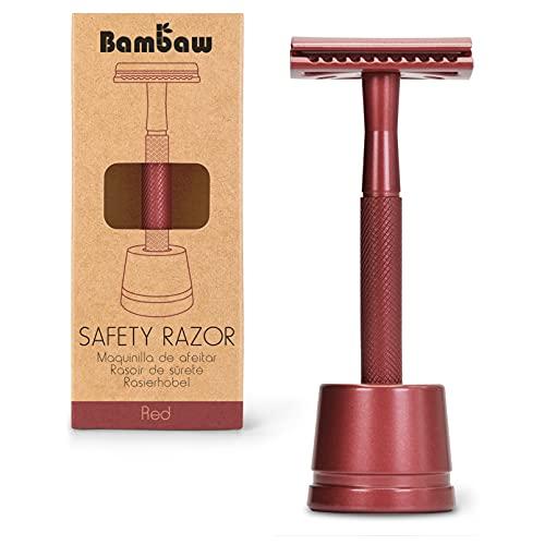 Maquinilla de Afeitar Clásica   Maquinilla de Afeitar para Mujeres y Hombres   Incluye Soporte Cuchilla de Afeitar   Compatible con Todas las Hojas de Afeitar   Máquina de afeitar clásica  Bambaw