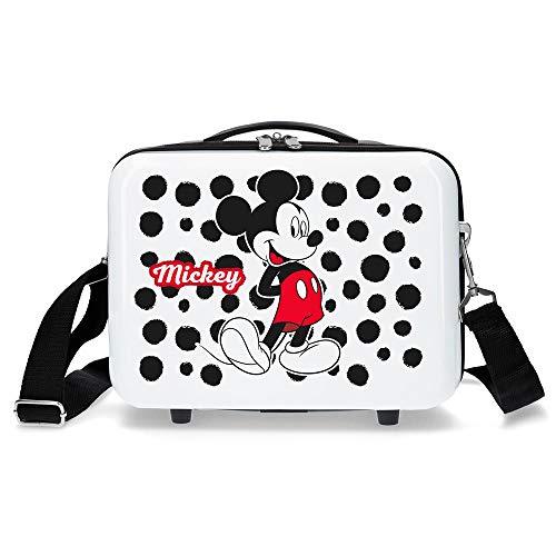Disney Enjoy The Day Borsa da Toilette Adattabile in ABS, 29 cm, Bianco