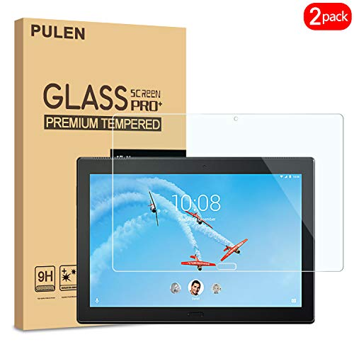 PULEN [2 Pack] Compatible Lenovo Tab P10 Screen Protector, Premium Quality Tempered Glass [Bubble Free][Anti-Fingerprint][Easy-Install] HD Scratch Resistance Film for Lenovo Tab P10
