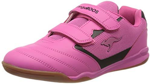 KangaROOS Race Comb V, Zapatillas Unisex Adulto, Rojo (Daisy Pink/Jet Black 6122), 38 EU