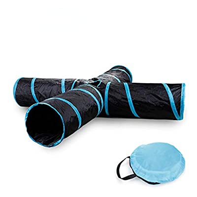 Ali York Cat Tunnel, 4-Way Cat Tunnel for Indoor Cats, Large Cat Tunnel for Cats Interactive Kitty Collapse Cat Toy for Indoor Cats by Ali York