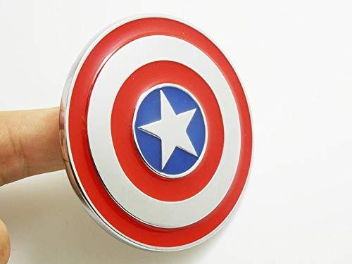 Tehui Aegis Bureau Captain America Persönlichkeit modifizierte Auto Standard-Metall Auto Aufkleber stereoskopische 3D-Rumpfkörper Kratzer Aufkleber frei Aufkleber