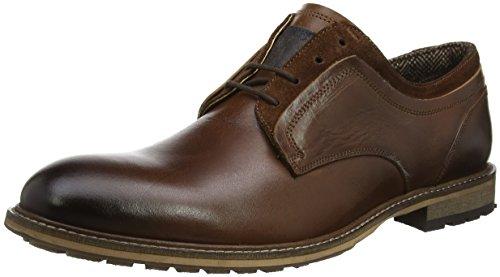 Steve Madden Footwear Gambol Low, Zapatos de Cordones Derby Hombre, Marrón (Cognac), 44 EU