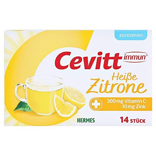 CEVITT immun heiße Zitrone zuckerfrei Granulat 14 Stück