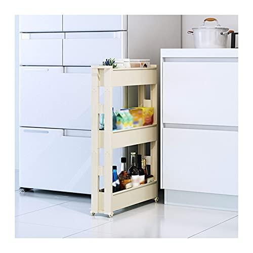 XGJJ Estantes Estantería Unidad Organizador Multifunción Multifunción Durable Cocina Cuarto de baño Carrito de lavandería Soportes