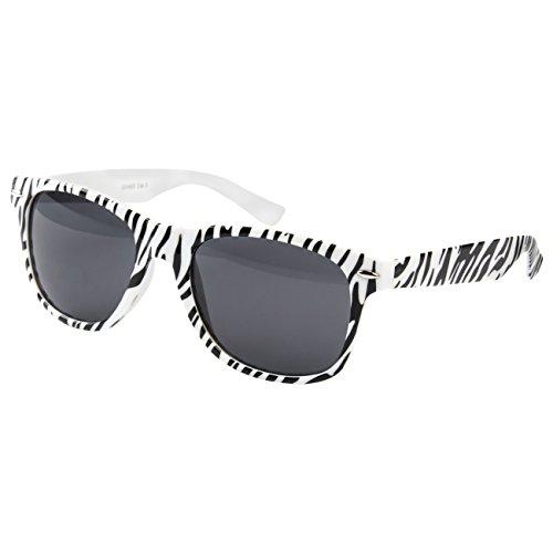2 er Set Nerd Sonnenbrille Festival Partybrille Atzen Brille Feuer Rot Türkis Schwarz Matt