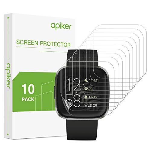 [10 Stück] apiker TPU Schutzfolie für Fitbit Versa 2, Fitbit Versa 2 Schutzfolie, vollständige Abdeckung,Ultra-dünn,Anti-Fingerabdruck,Anti-Schmutz, Hoch Transparenz,hohe Empfindlichkeit