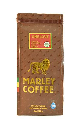 Organic One Love, Ethiopian YirgaCheffe Ground Coffee, 8 Ounce