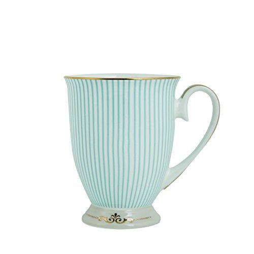 ENJOHOS Royal Vintage Porcelain Bone China Coffee Mug / Tea Cup /Gift Ideas (Royal Blue Stripe)