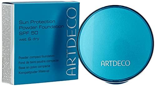 ARTDECO Sun Protection Powder Foundation SPF 50 - Puder Make-up mit Sonnenschutz - 1 x 9, 5 g, Nr. 50 - dark cool beige