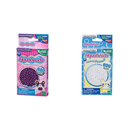 Aquabeads 32578 Perlen lila & 32638 Perlen weiß